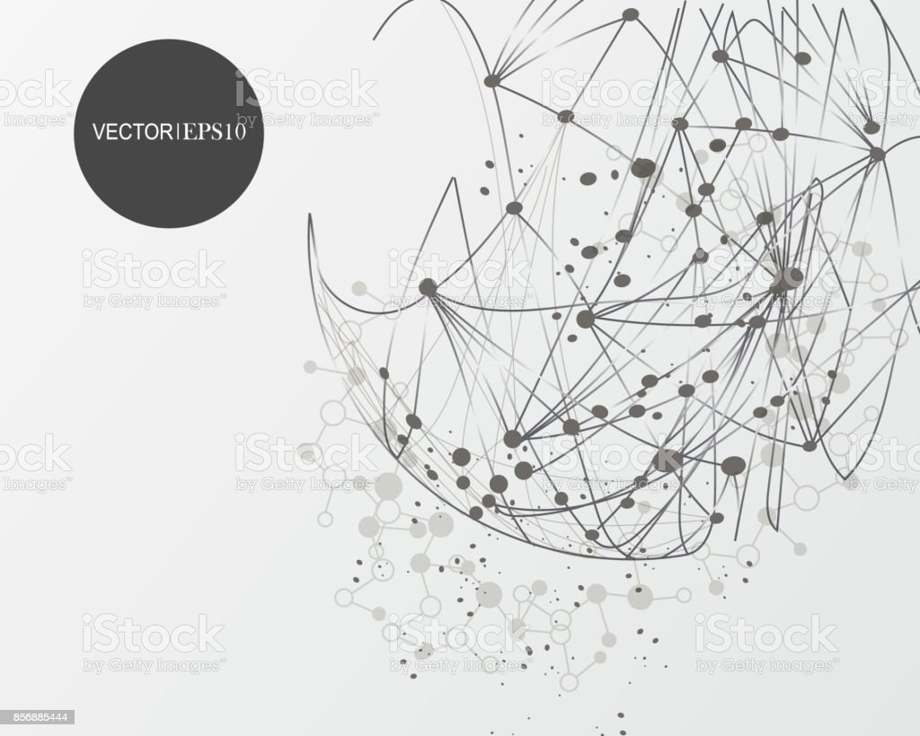 Connection Concept Geometric Vector Background For Business Or Science  Presentation Stock Illustration - Download Image Now