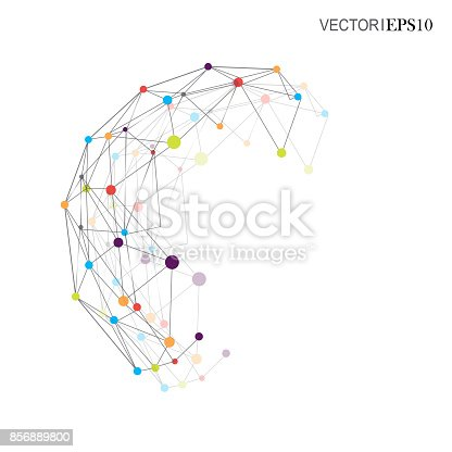 801051868istockphoto Connection concept. Geometric vector background for business or science 856889800