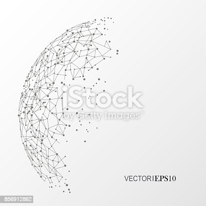 801051868istockphoto Connection concept. Geometric vector background for business or science 856912862