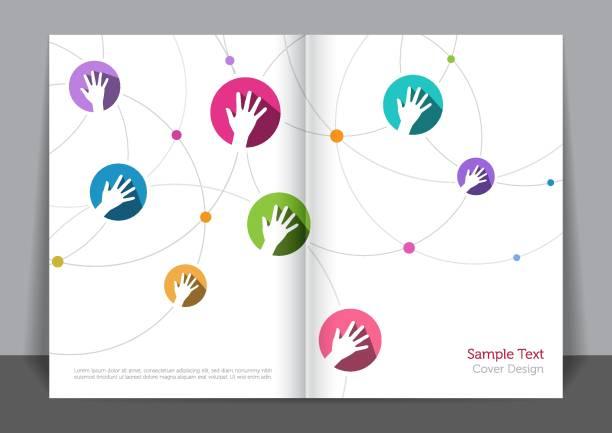 Connexion mains Cover design - Illustration vectorielle