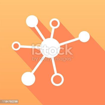 843593806 istock photo Connection icon. Network sphere icon. Flat art symbol. Vector illustration. 1184760298