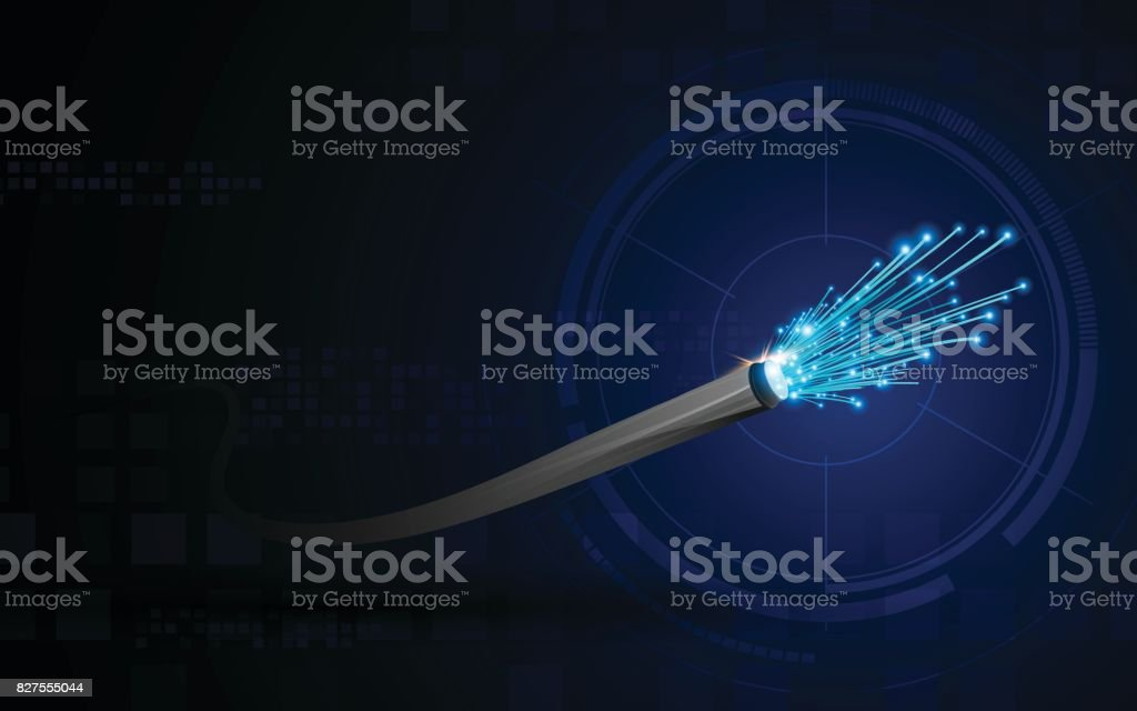 connection line on networking telecommunication concept background vector art illustration