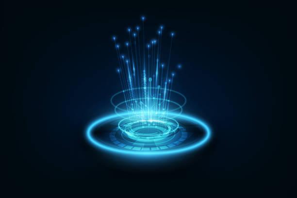 illustrations, cliparts, dessins animés et icônes de câble de raccordement sur réseau fond de notion de télécommunication - fibre