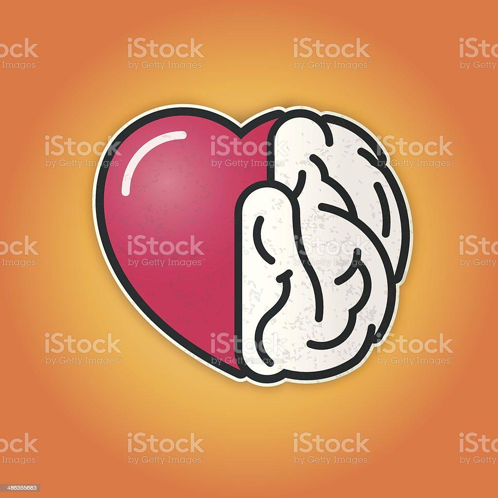 Verbindung Von Herz Und Gehirn Stock Vektor Art und mehr Bilder von ...