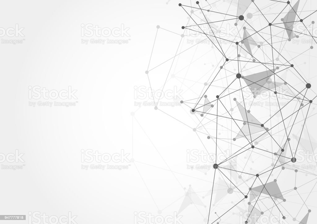 connection technologies for business futuristic network shape on white background vector