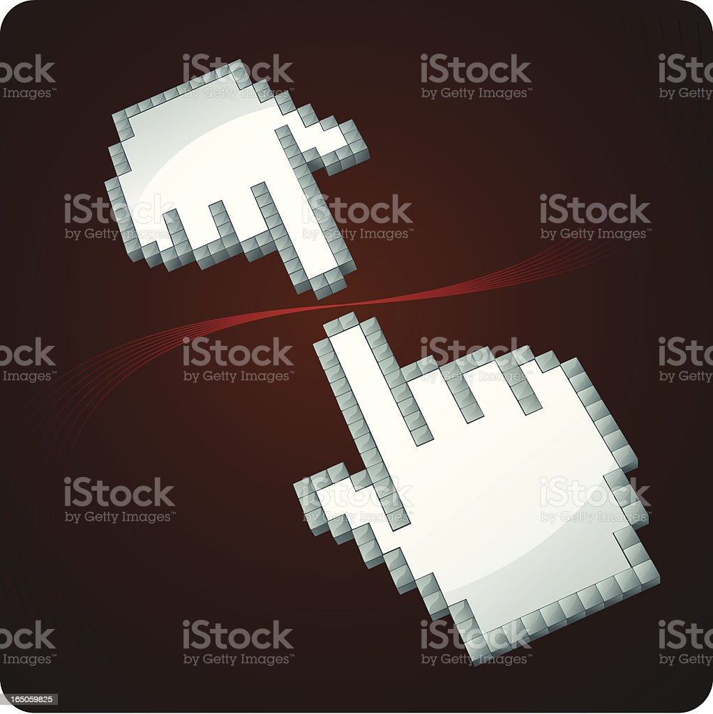 Connection vector art illustration