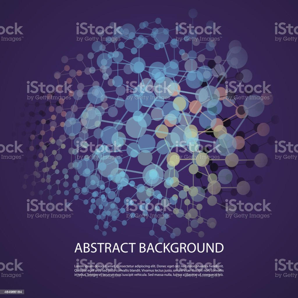 Connections - Abstract Mesh Background vector art illustration
