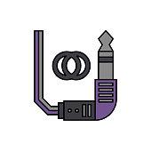 Connector, audio, jack icon. Element of color music studio equipment icon. Premium quality graphic design icon. Signs and symbols collection icon