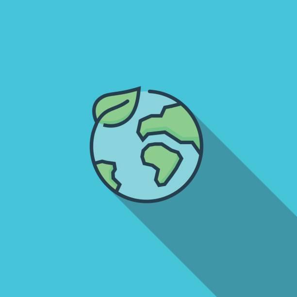 illustrazioni stock, clip art, cartoni animati e icone di tendenza di conservation flat icon - sustainability icons