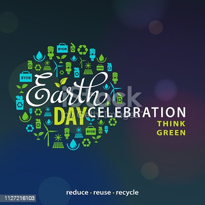 ECO awareness icon for Earth Day.