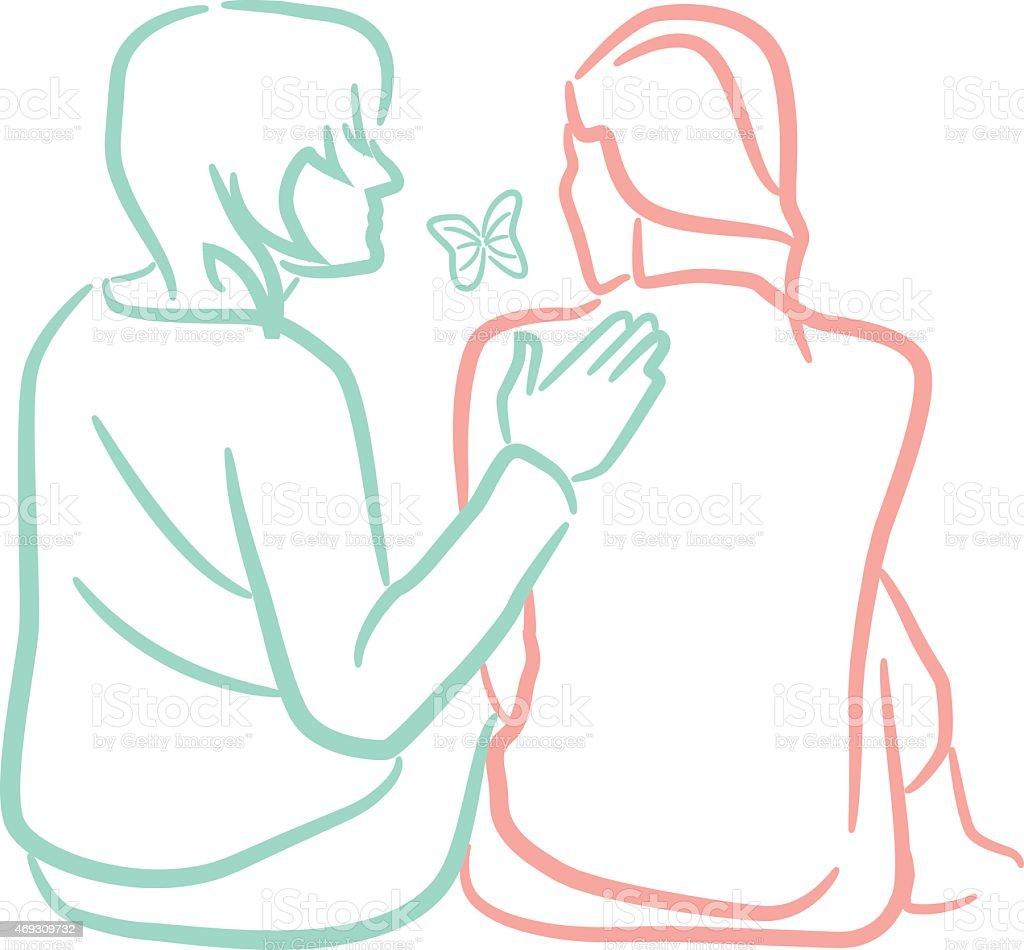 Consolation vector art illustration