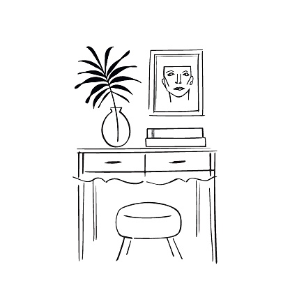 Console table sketch