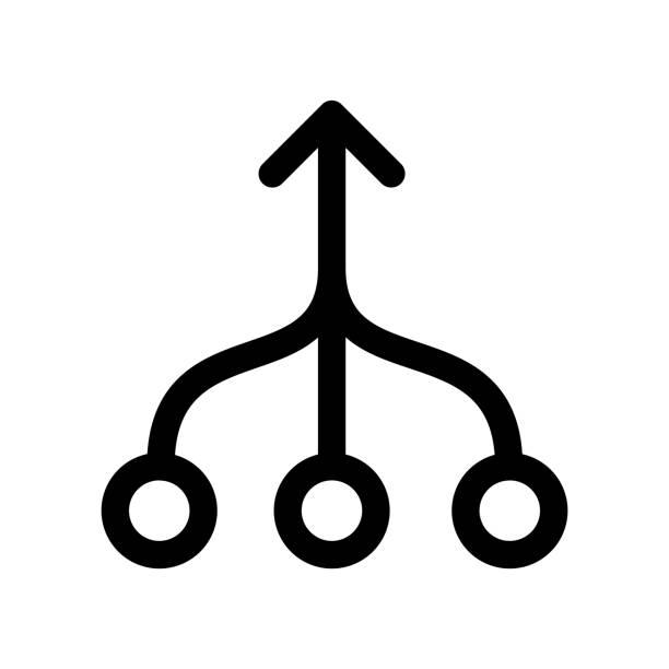 stockillustraties, clipart, cartoons en iconen met consolidatie-pictogram - concentratie