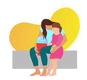 istock Consoling Little Girl Yellow 1314118190