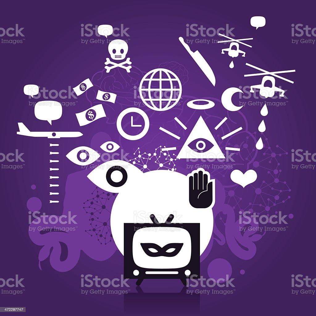 Conspiracy royalty-free stock vector art