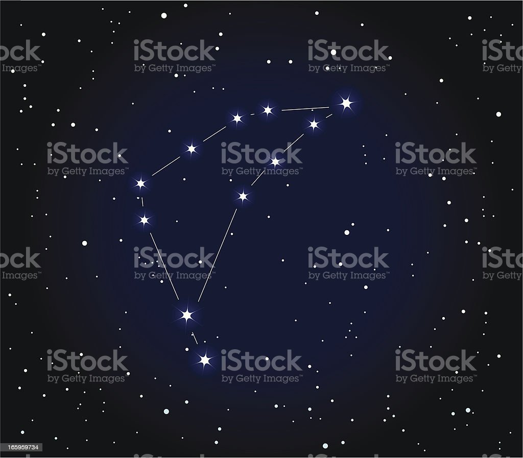 Constellation Of Capricorn vector art illustration