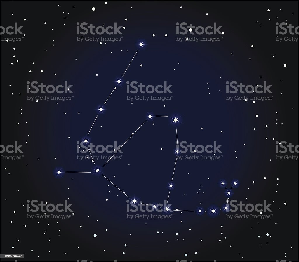 Constellation Ophiuchus And Serpent Stock Illustration ...