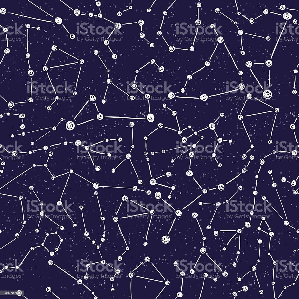 Constellation pattern vector art illustration