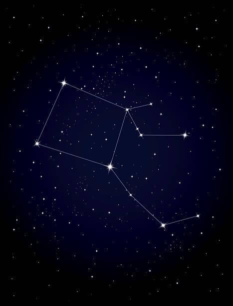 constellation pegasus - pegasus stock illustrations