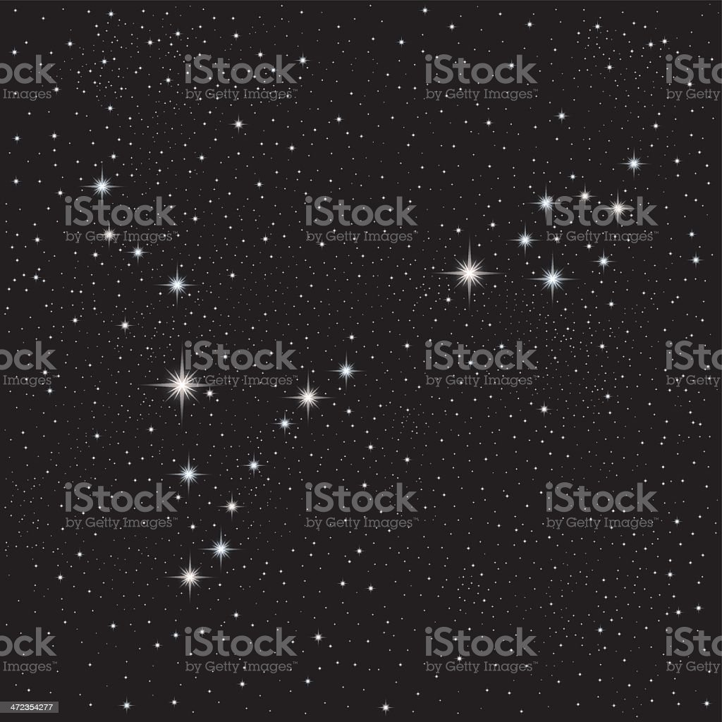 Constellation Pisces royalty-free stock vector art