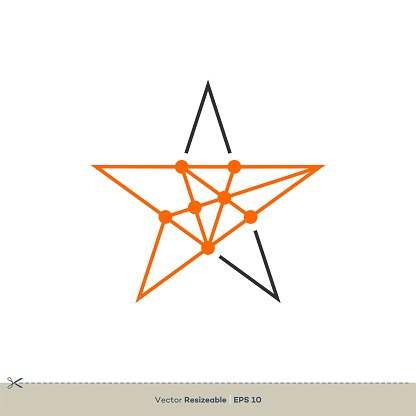 Constellation Star Vector Logo Template Illustration Design. Vector EPS 10.