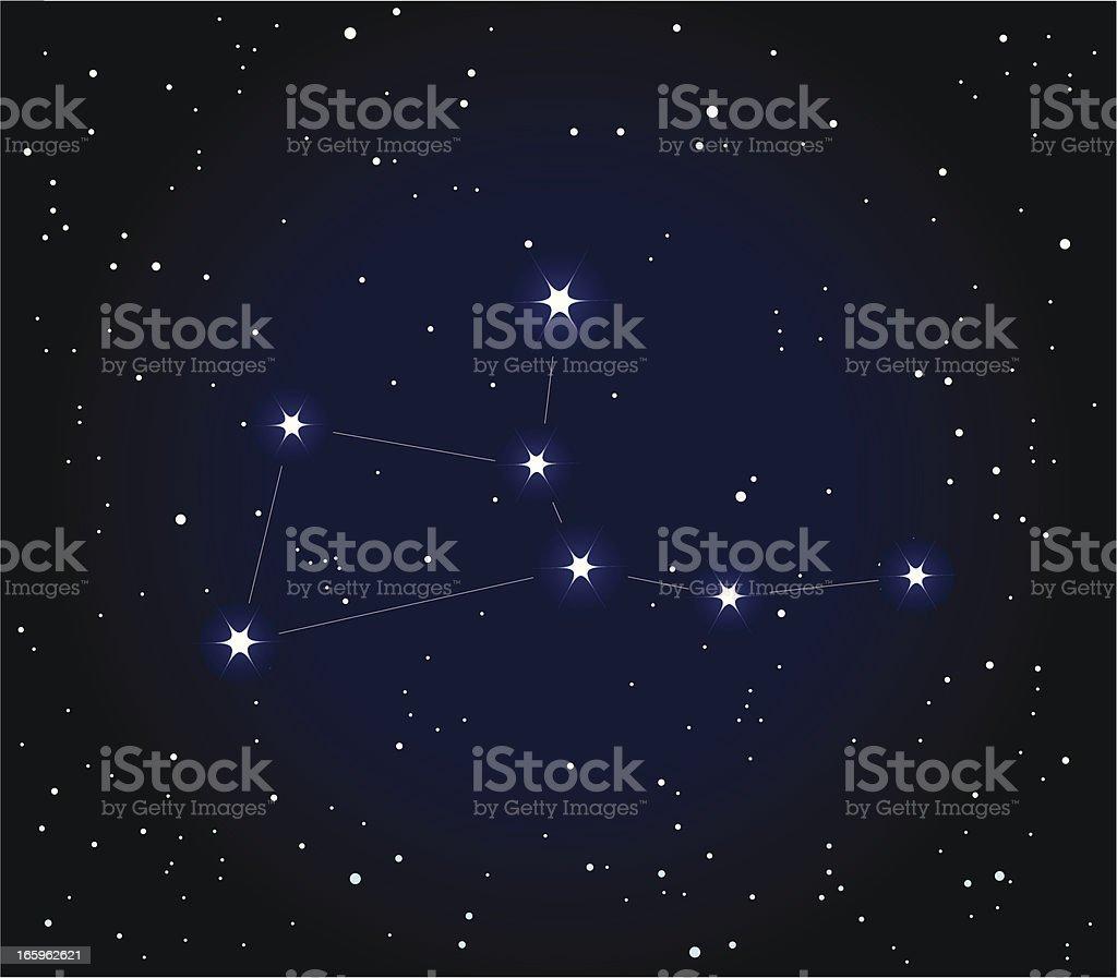 Constellation Virgo royalty-free stock vector art
