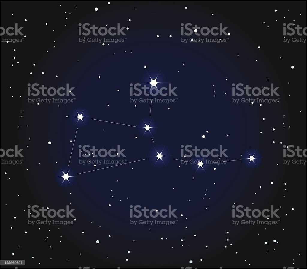 Constellation Virgo vector art illustration