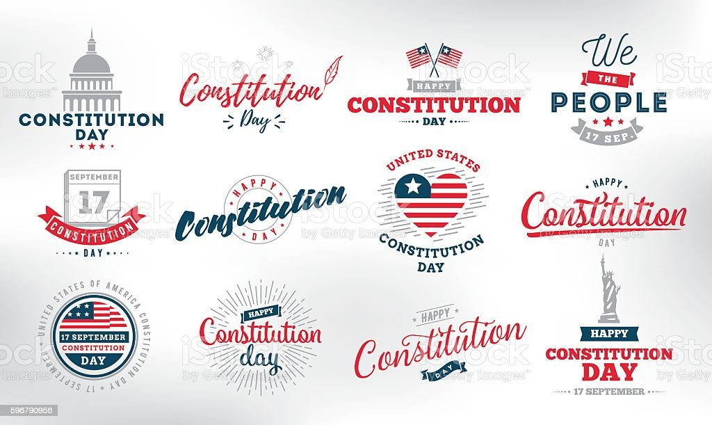 USA constitution day. 17 september. vector art illustration