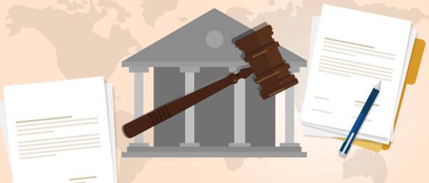anayasa hukuku karar olgu yasal tokmak tahta çekiç suç yargıtay açık artırma sembolü - supreme court stock illustrations
