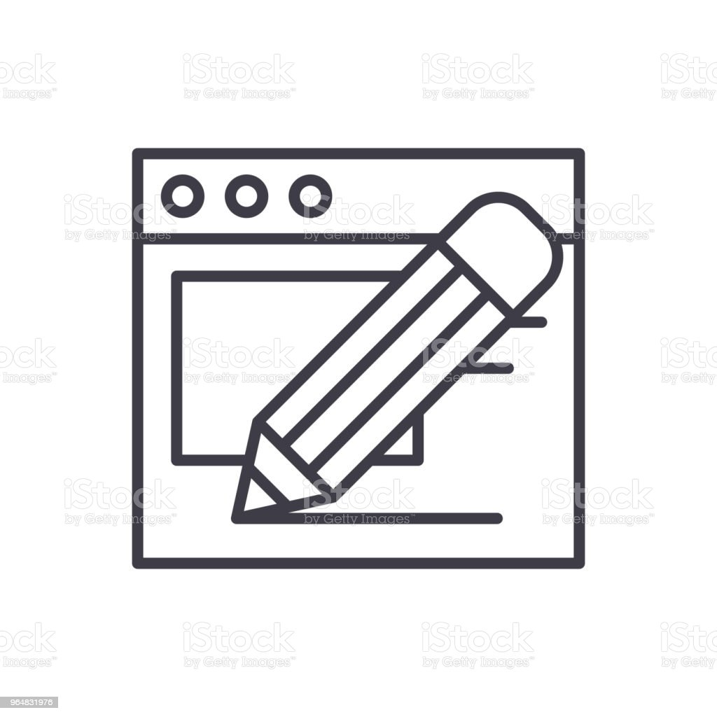 Constructing a website black icon concept. Constructing a website flat  vector symbol, sign, illustration. royalty-free constructing a website black icon concept constructing a website flat vector symbol sign illustration stock vector art & more images of abstract