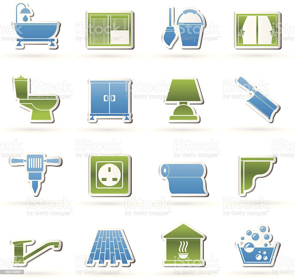 Construction and building equipment Icons royalty-free construction and building equipment icons stock vector art & more images of architectural cornice