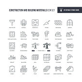 29 Construction and Building Materials Icons - Editable Stroke - Easy to edit and customize - You can easily customize the stroke with