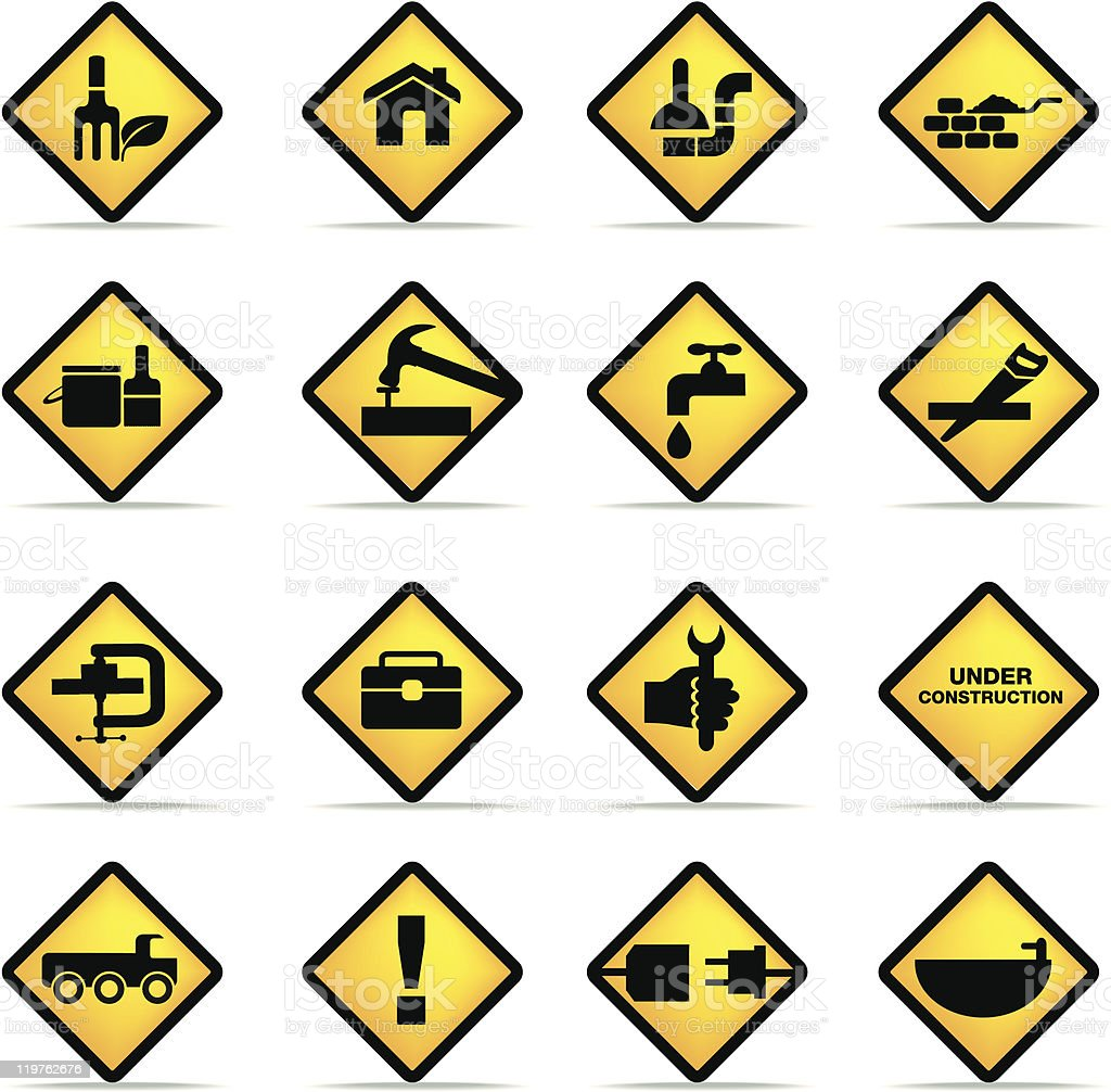 construction and diy icon set royalty-free construction and diy icon set stock vector art & more images of adult