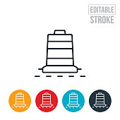 An icon of a construction barrel. The icon includes editable strokes or outlines using the EPS vector file.