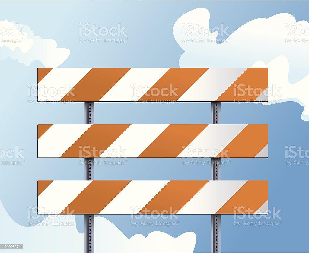 Construction Barricade vector art illustration