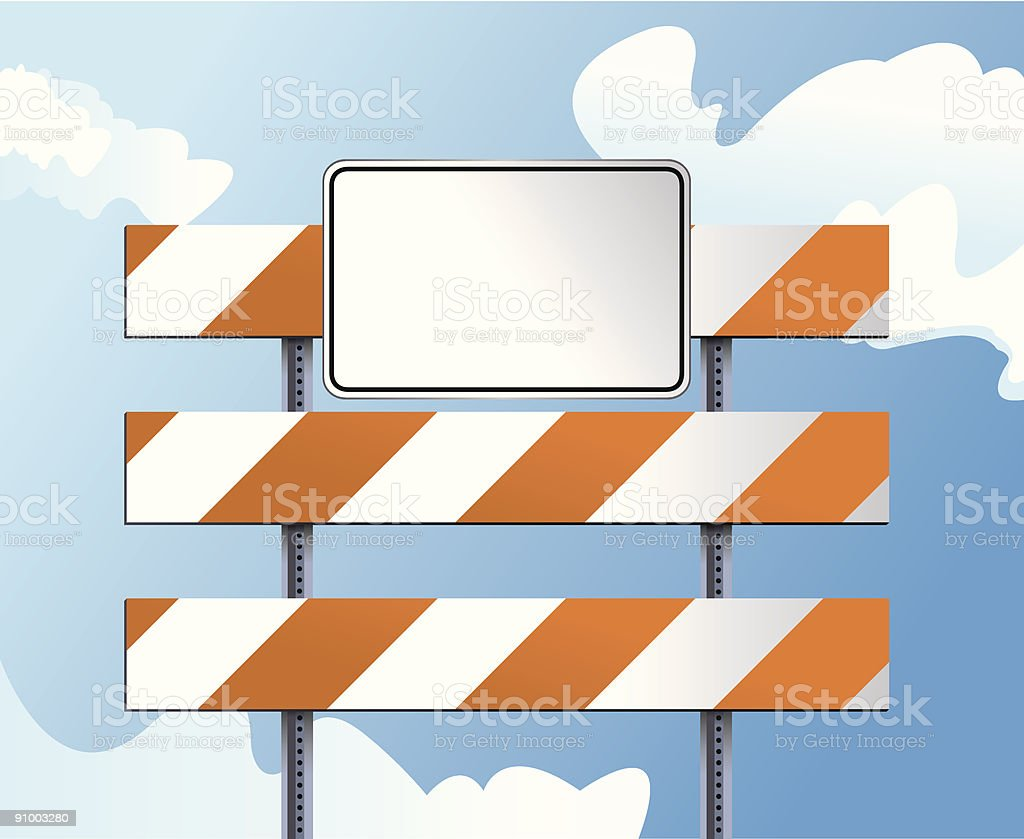 Construction Barricade royalty-free stock vector art