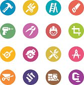 Construction Circle Colour Harmony icons