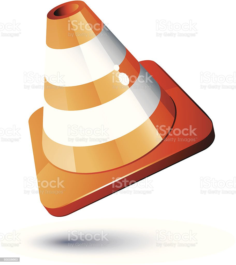 Construction Cone royalty-free construction cone stock vector art & more images of color image