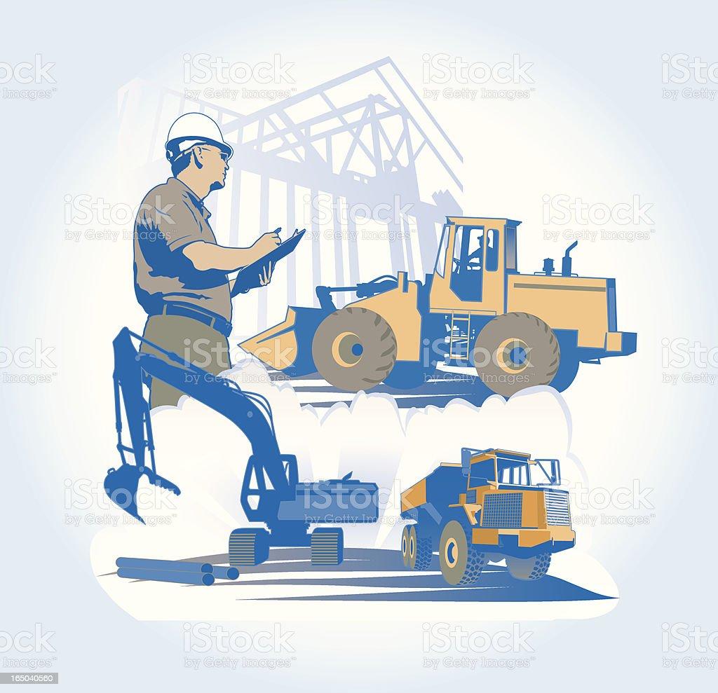 Construction: Contractor / Engineer royalty-free stock vector art