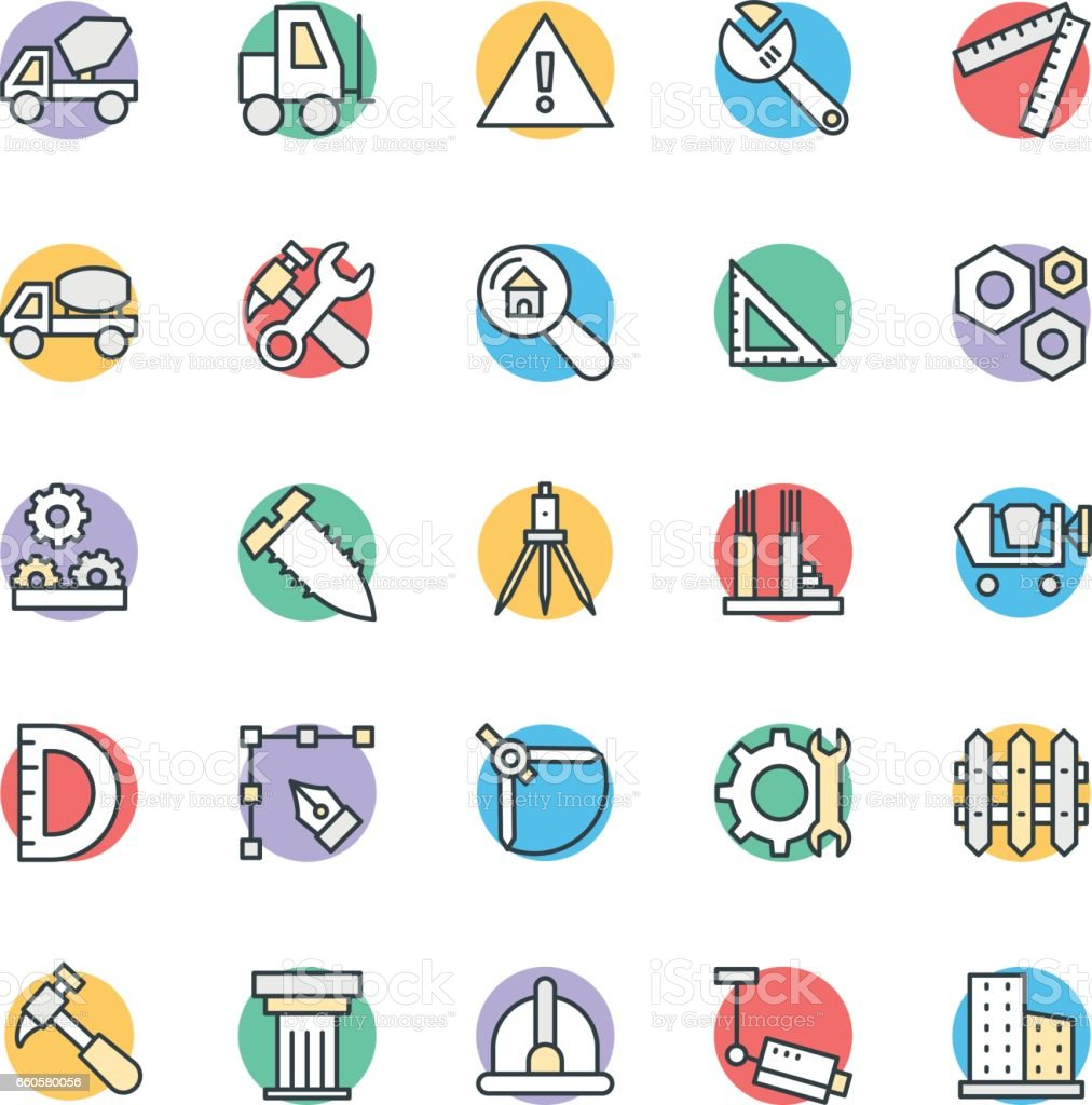 Construction Cool Vector Icons 3 vector art illustration