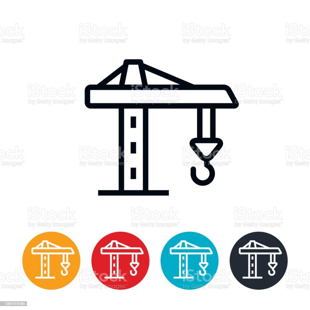 Construction Crane Icon vector art illustration