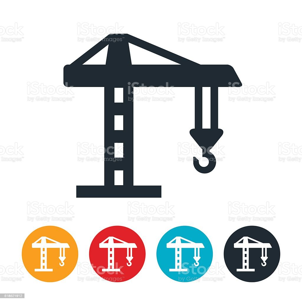 Construction Crane Icon vector art illustration