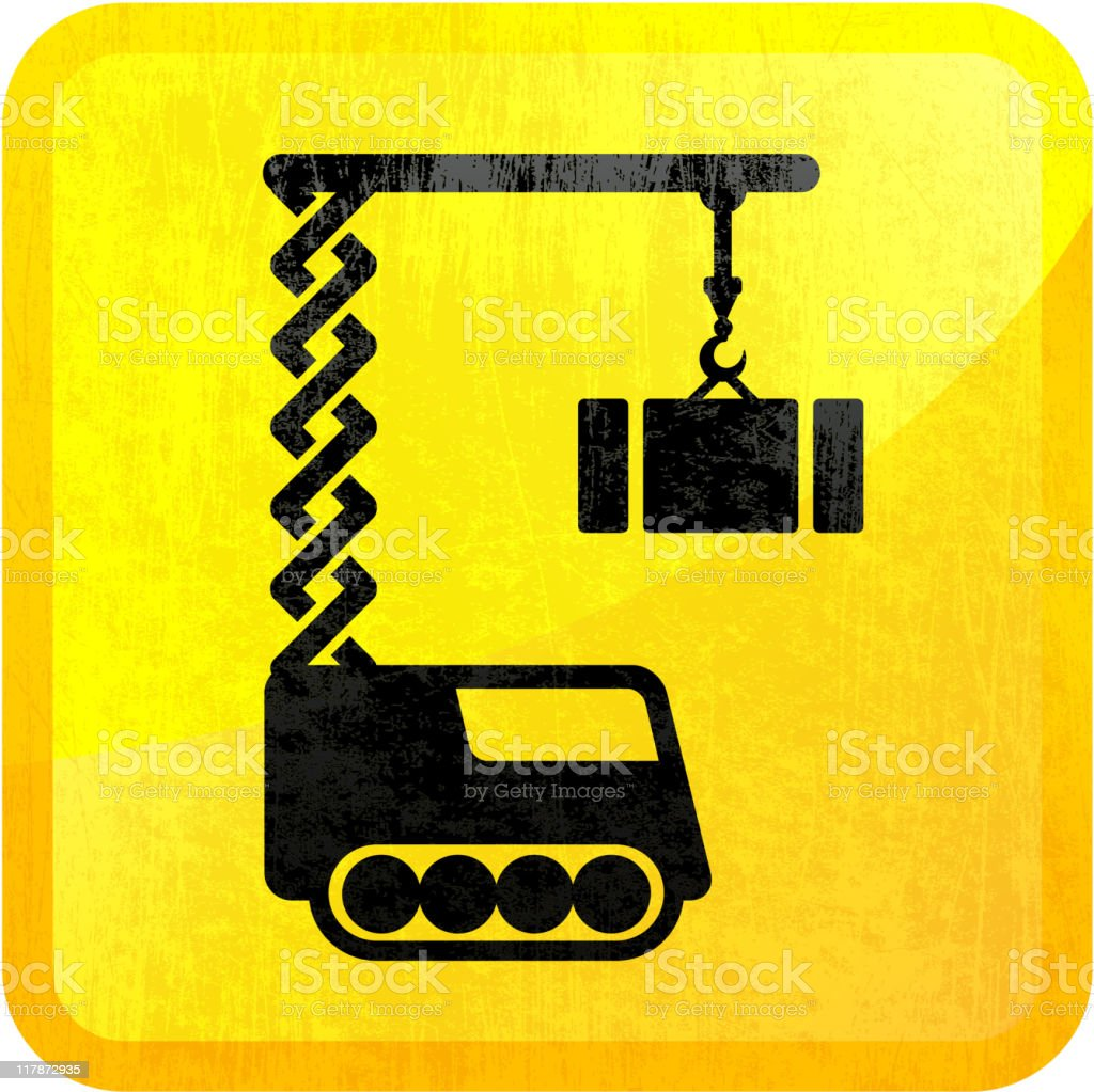 construction crane on royalty free vector Background royalty-free construction crane on royalty free vector background stock vector art & more images of color image