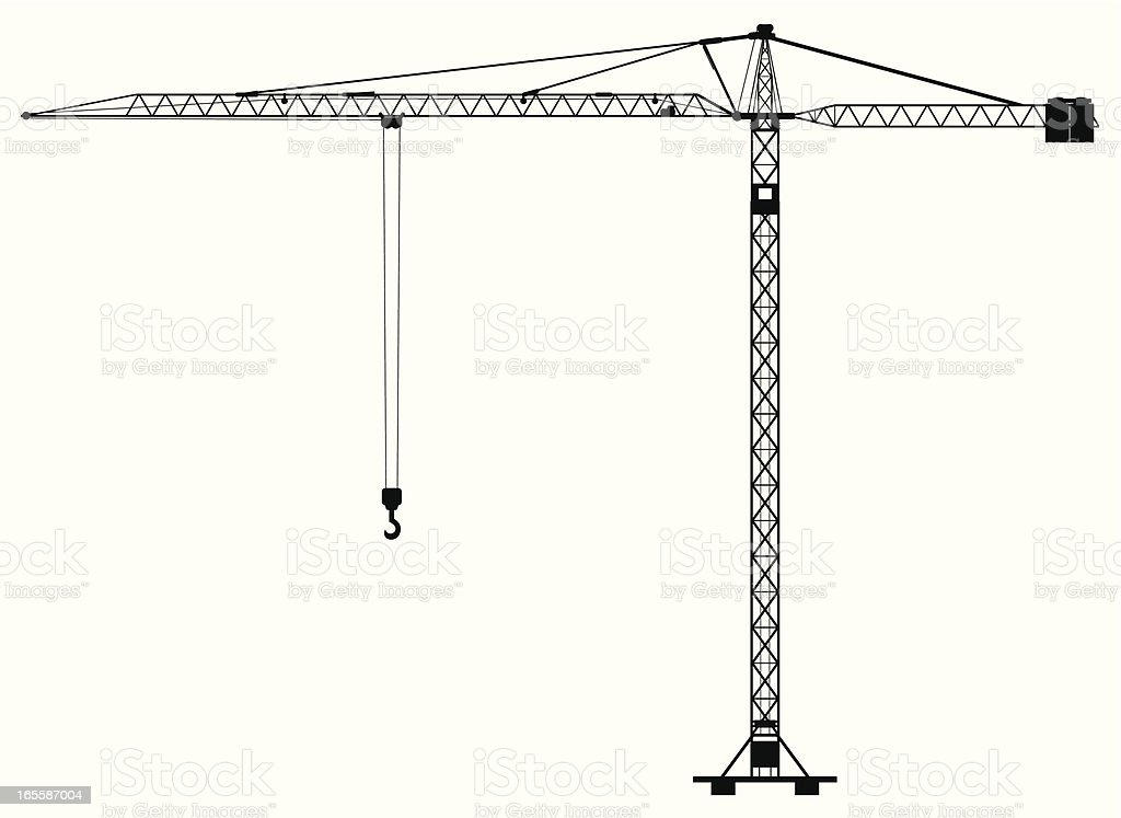 construction crane vector art illustration