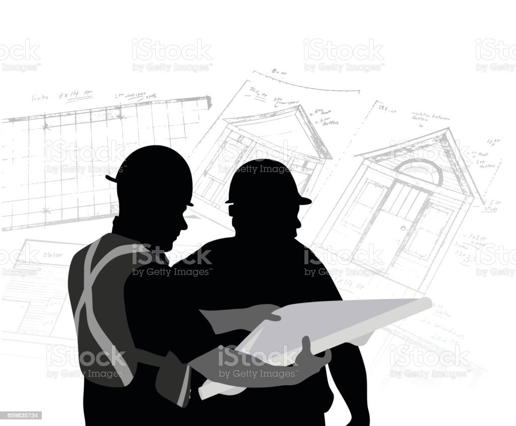 Construction Delegation vector art illustration