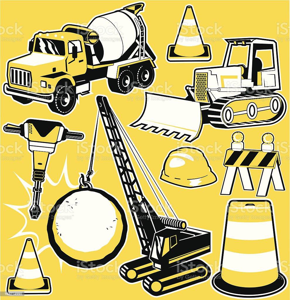 Construction & Destruction royalty-free stock vector art