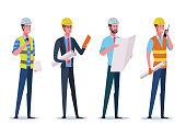 People characters flat illustration