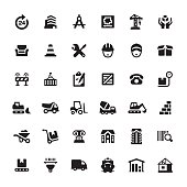 Construction Equipment and Site icons.