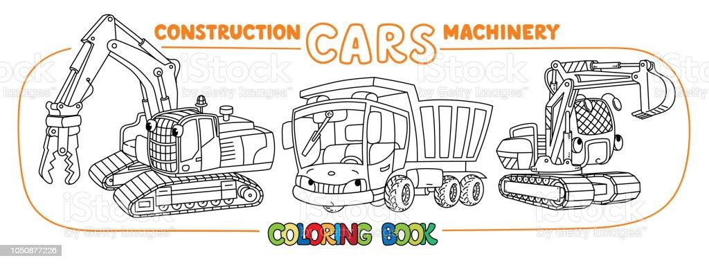 Ilustración de Construcción Equipo Coches Conjunto Libro Para ...