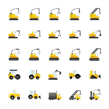 Construction Equipment Icon Set